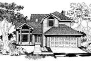 Traditional Style House Plan - 3 Beds 2.5 Baths 1738 Sq/Ft Plan #303-101 Exterior - Front Elevation