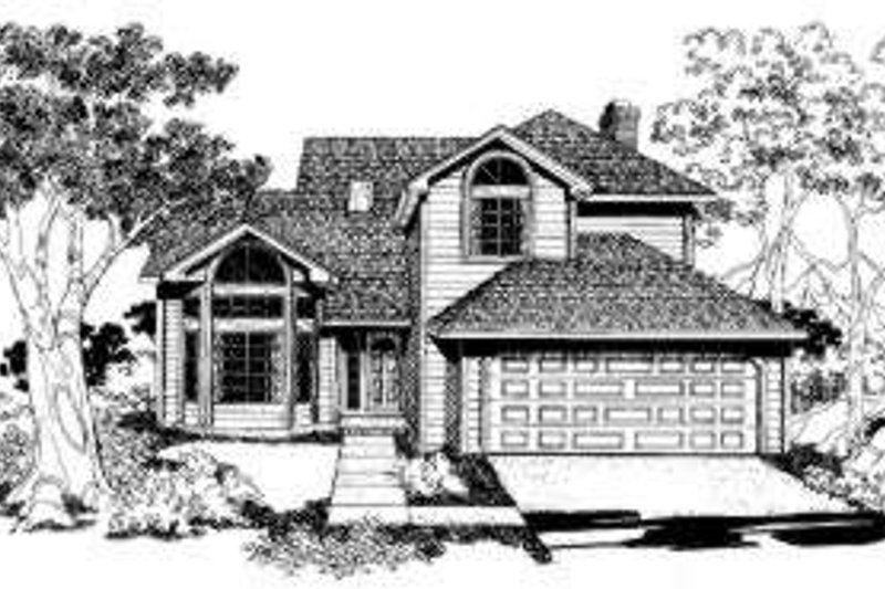 Traditional Style House Plan - 3 Beds 2.5 Baths 1738 Sq/Ft Plan #303-101