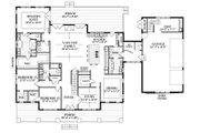 Farmhouse Style House Plan - 5 Beds 4.5 Baths 4357 Sq/Ft Plan #898-53 Floor Plan - Main Floor Plan