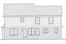 Dream House Plan - Traditional Exterior - Rear Elevation Plan #46-495