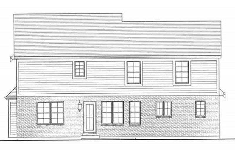 Traditional Exterior - Rear Elevation Plan #46-495 - Houseplans.com