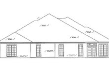 Traditional Exterior - Rear Elevation Plan #310-474