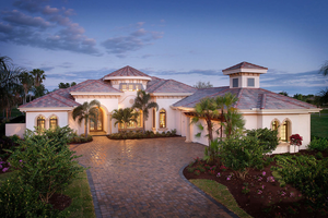 Mediterranean designed with Tuscan styling, elevation