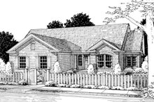 Traditional Exterior - Front Elevation Plan #20-372