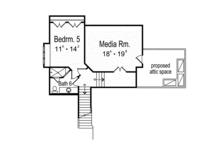 Mediterranean Floor Plan - Upper Floor Plan Plan #417-815