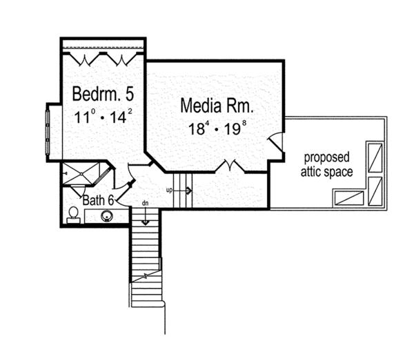 House Plan Design - Mediterranean Floor Plan - Upper Floor Plan #417-815