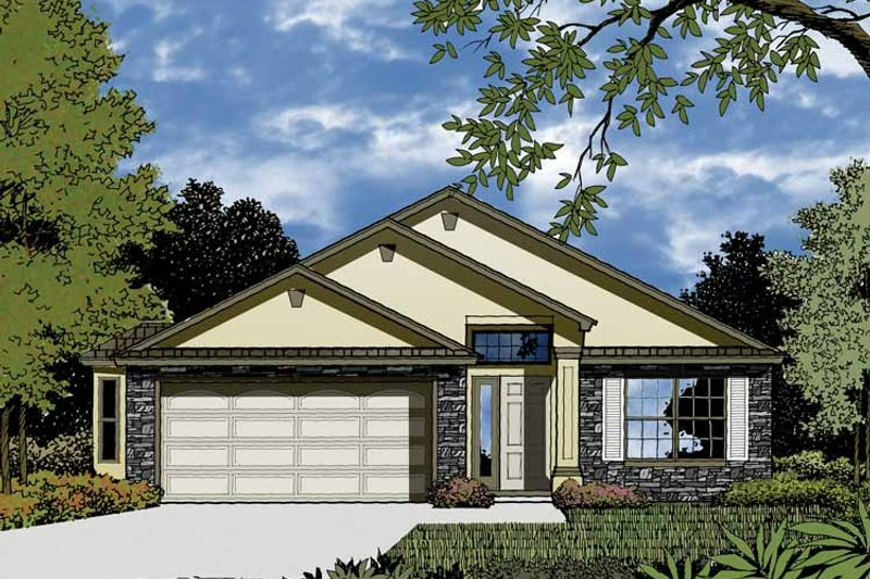 Contemporary Exterior - Front Elevation Plan #1015-30