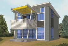 House Plan Design - Contemporary Exterior - Front Elevation Plan #569-28