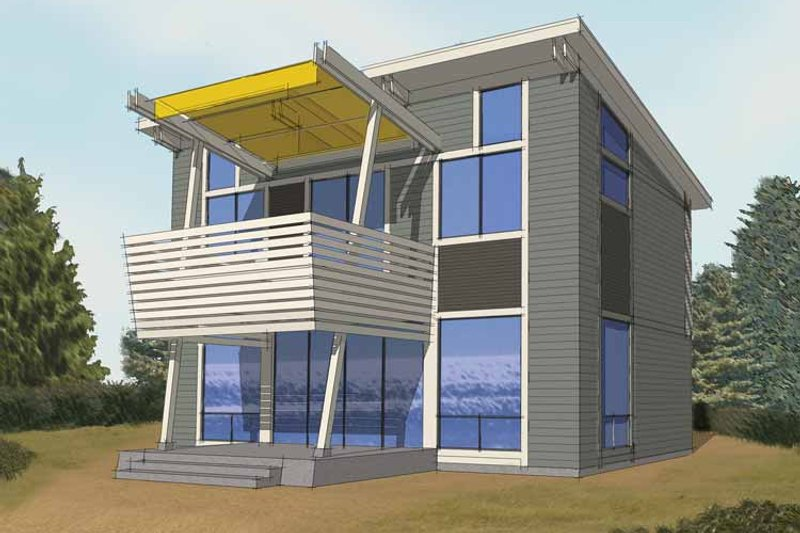 Home Plan - Contemporary Exterior - Front Elevation Plan #569-28