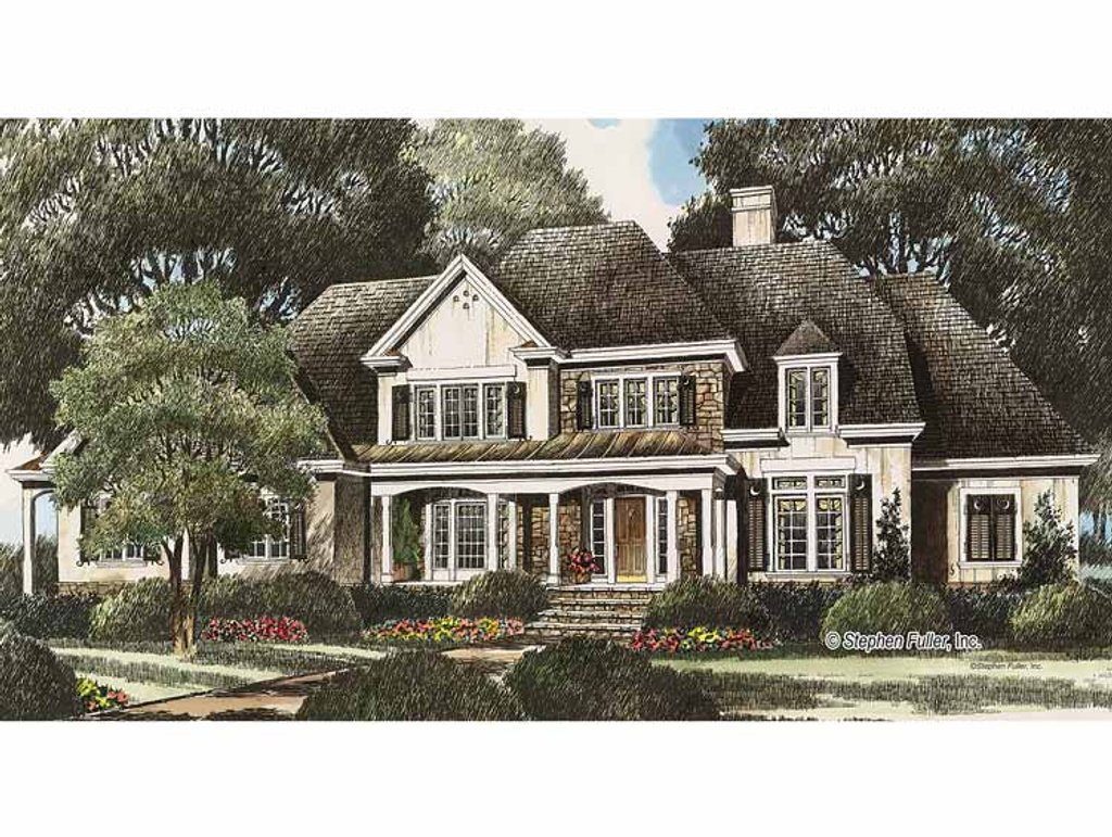 Country style house plan 4 beds 4 baths 3951 sq ft plan for 429 plan