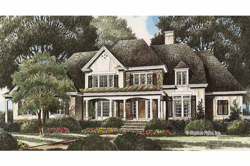 Country Exterior - Front Elevation Plan #429-348 - Houseplans.com