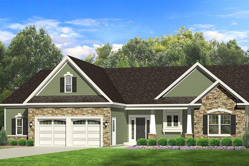 Ranch Exterior - Front Elevation Plan #1010-100 - Houseplans.com