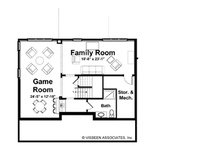 Craftsman Floor Plan - Lower Floor Plan Plan #928-137