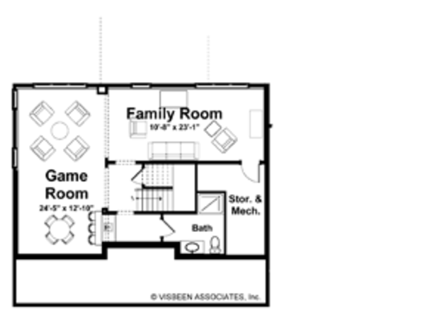 Craftsman Floor Plan - Lower Floor Plan Plan #928-137