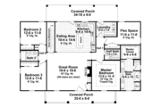 Colonial Style House Plan - 3 Beds 2.5 Baths 1951 Sq/Ft Plan #21-431 Floor Plan - Main Floor