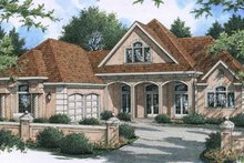 Dream House Plan - Country Exterior - Front Elevation Plan #45-513