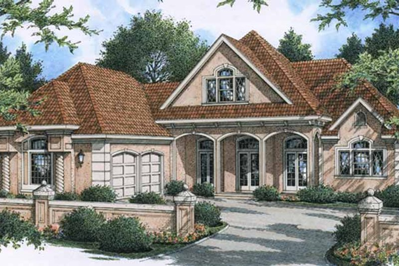 Architectural House Design - Country Exterior - Front Elevation Plan #45-513
