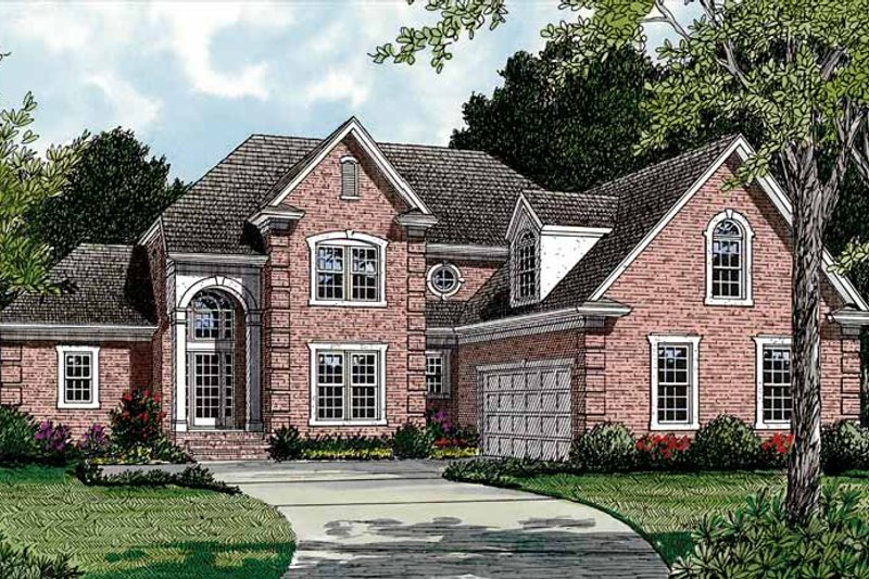 Traditional Exterior - Front Elevation Plan #453-405