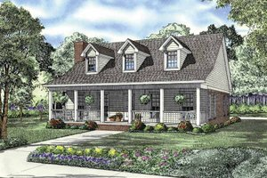 Architectural House Design - Country Exterior - Front Elevation Plan #17-2845