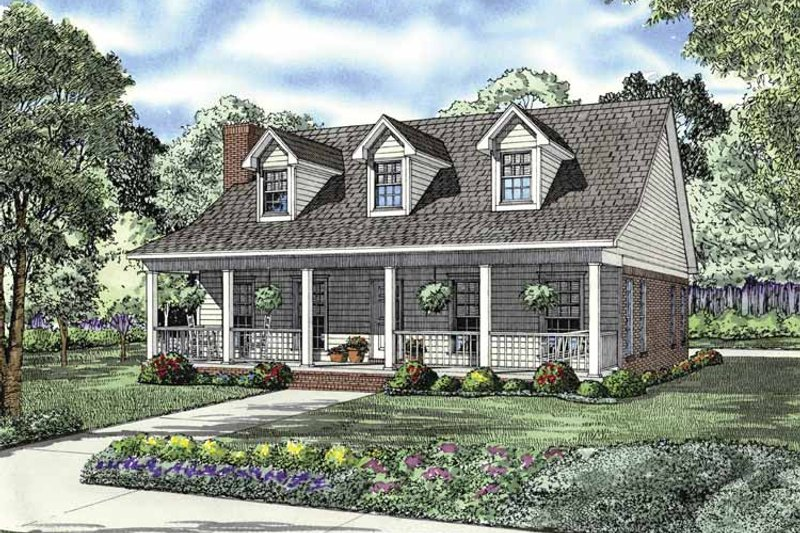 Country Exterior - Front Elevation Plan #17-2845