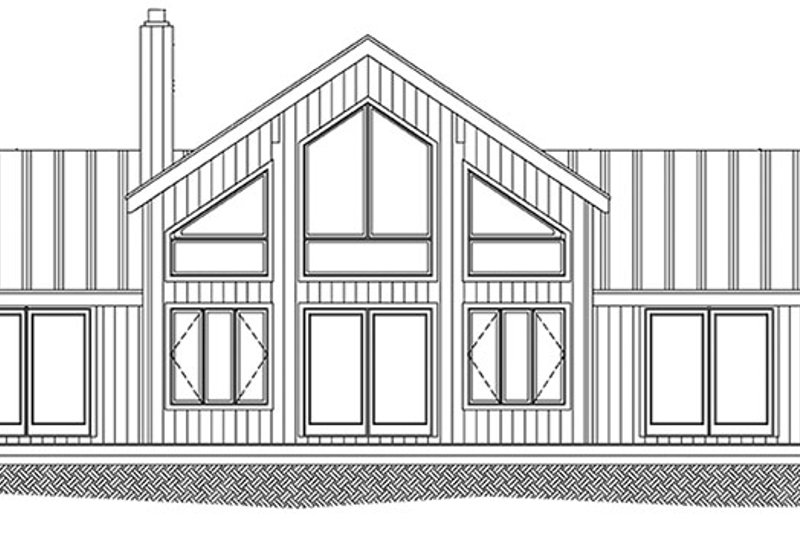 Contemporary Exterior - Rear Elevation Plan #1061-8 - Houseplans.com