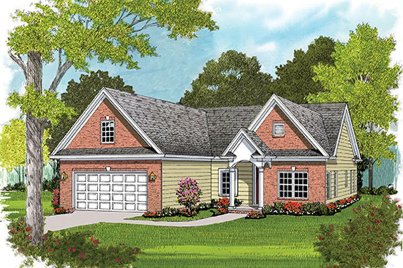 Colonial Exterior - Front Elevation Plan #453-628