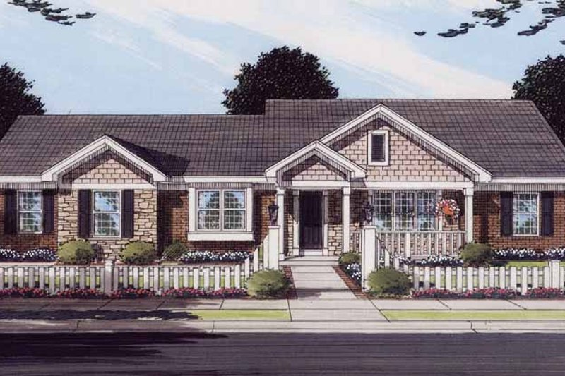 Contemporary Exterior - Front Elevation Plan #46-770 - Houseplans.com