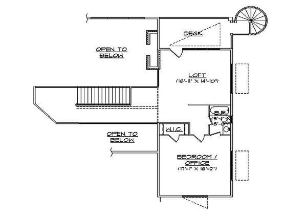 House Plan Design - Floor Plan - Upper Floor Plan #5-461