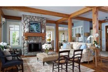 Architectural House Design - Craftsman Interior - Family Room Plan #928-64