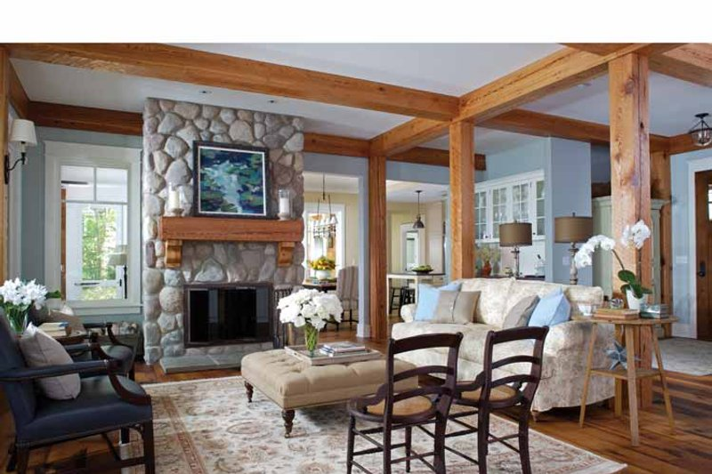 Craftsman Interior - Family Room Plan #928-64 - Houseplans.com