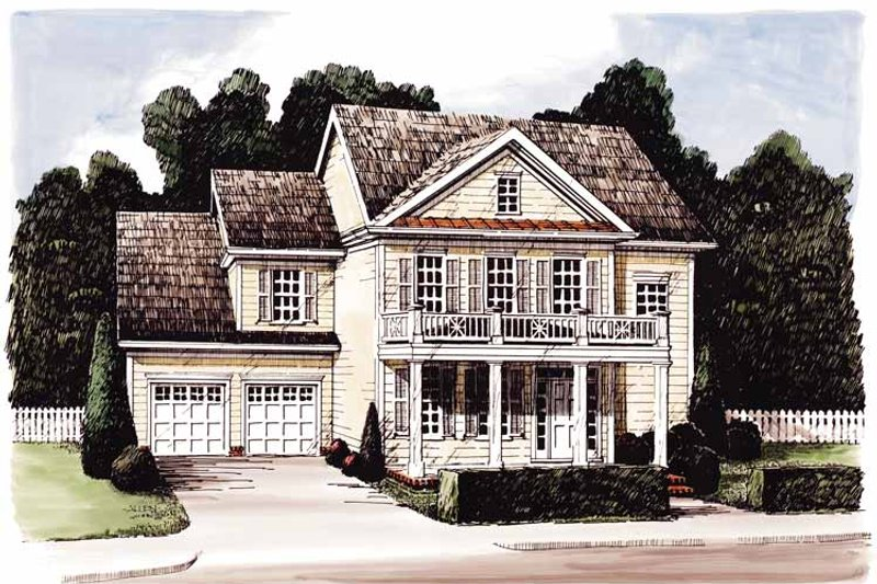 Classical Style House Plan 4 Beds