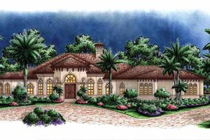 Home Plan - Mediterranean Exterior - Front Elevation Plan #1017-121