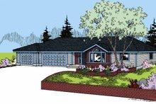 Craftsman Exterior - Front Elevation Plan #60-1021