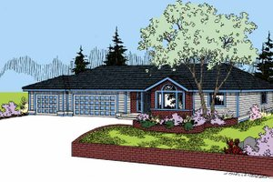 House Plan Design - Craftsman Exterior - Front Elevation Plan #60-1021