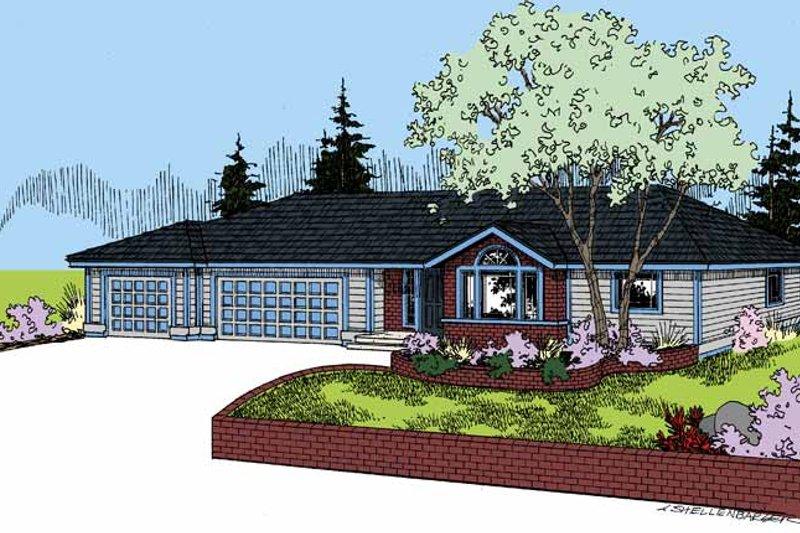Dream House Plan - Craftsman Exterior - Front Elevation Plan #60-1021