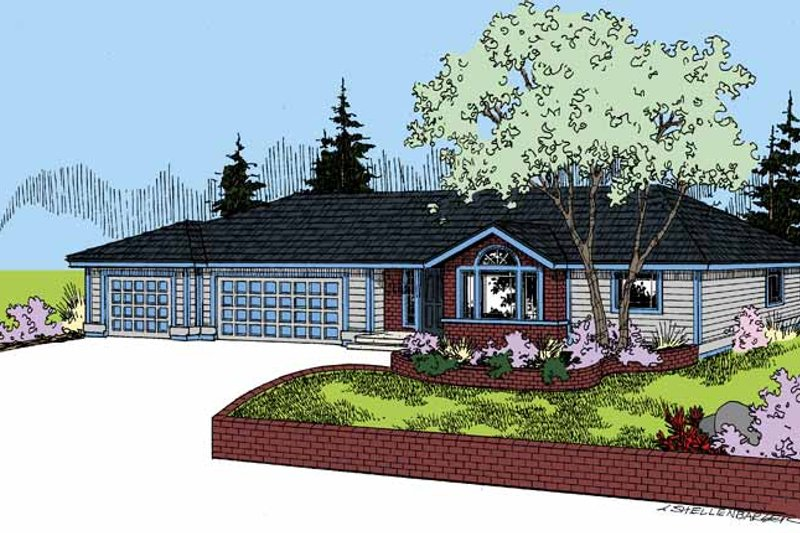 Architectural House Design - Craftsman Exterior - Front Elevation Plan #60-1021
