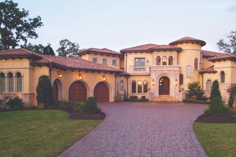 Dream House Plan - Mediterranean Exterior - Front Elevation Plan #453-617