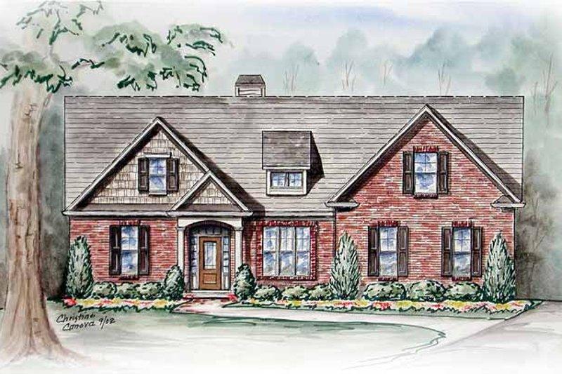 Ranch Exterior - Front Elevation Plan #54-234 - Houseplans.com