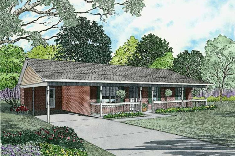 Home Plan - Contemporary Exterior - Front Elevation Plan #17-2804