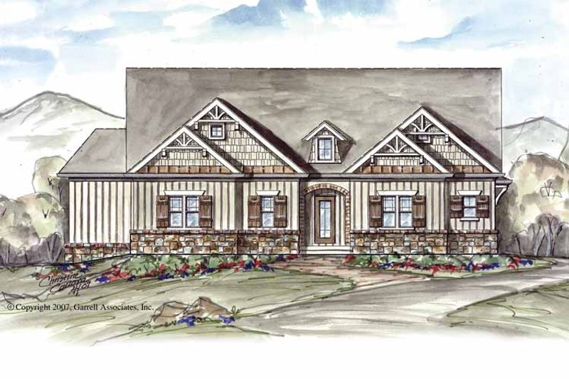 Craftsman Exterior - Front Elevation Plan #54-262 - Houseplans.com
