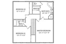Traditional Floor Plan - Upper Floor Plan Plan #1060-33