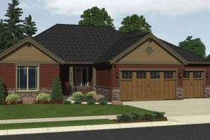 House Design - Craftsman Exterior - Front Elevation Plan #943-17