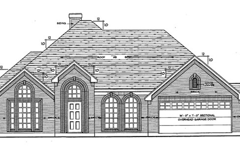 Ranch Exterior - Front Elevation Plan #42-514