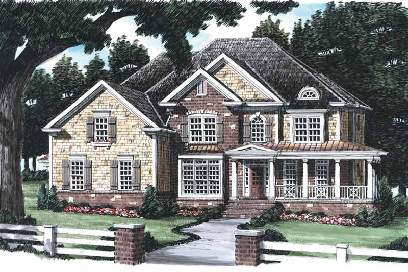 Country Exterior - Front Elevation Plan #927-641