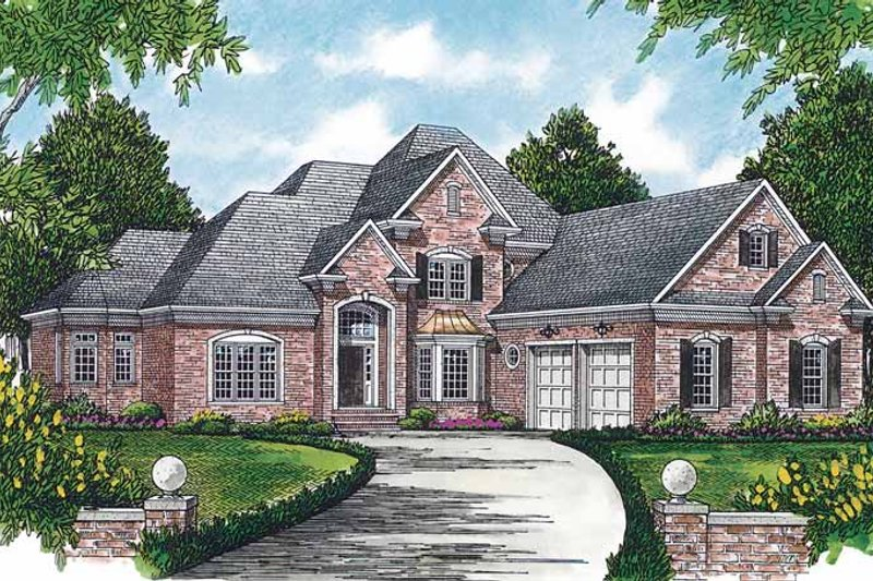 House Plan Design - Traditional Exterior - Front Elevation Plan #453-394