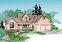 Country Exterior - Front Elevation Plan #60-803