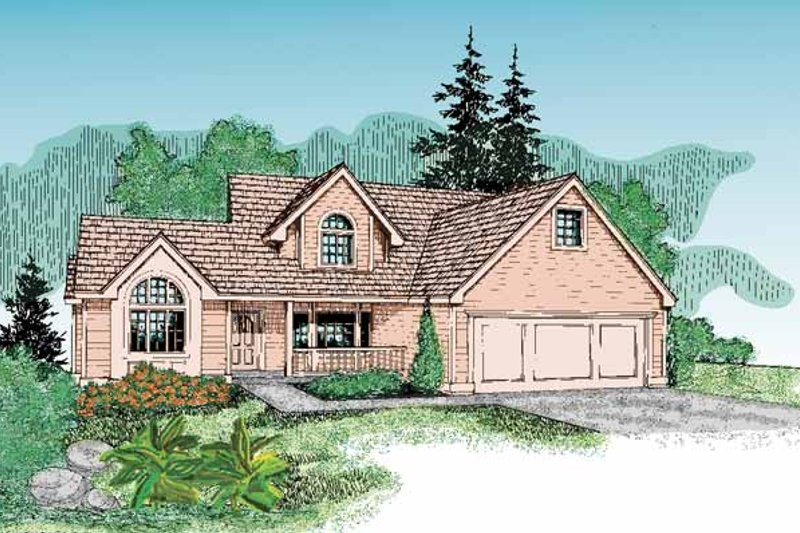 Country Exterior - Front Elevation Plan #60-803 - Houseplans.com