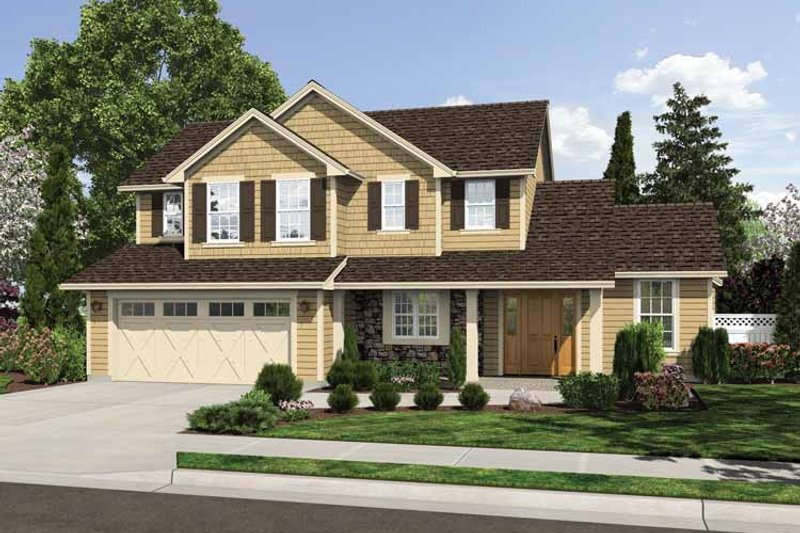 Traditional Exterior - Front Elevation Plan #46-810 - Houseplans.com