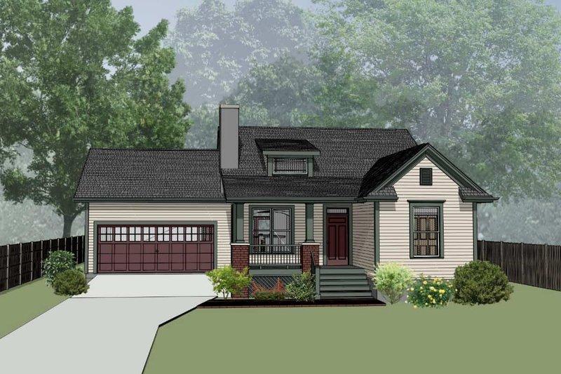 Dream House Plan - Country Exterior - Front Elevation Plan #79-164