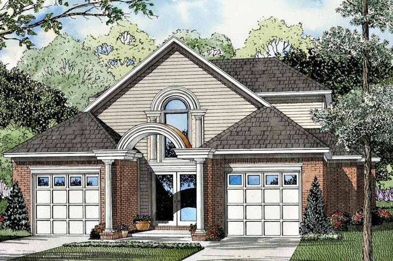 Traditional Exterior - Front Elevation Plan #17-3059 - Houseplans.com